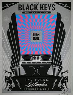 Shepard Fairey, 'BLACK KEYS: Turn Blue,' 2014, Struck Contemporary