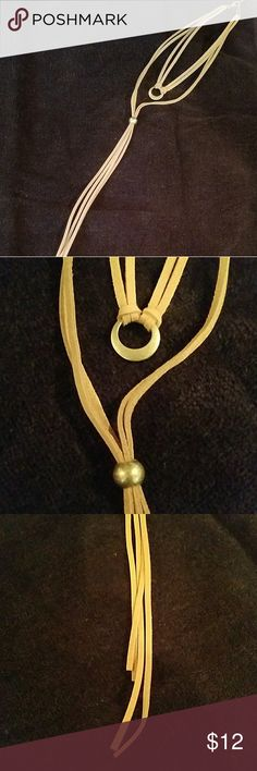 Suede like accessory necklace Tan suede like accessory necklace Jewelry Necklaces