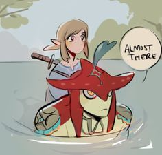 Prince Sidon and Link [Breath of the Wild]