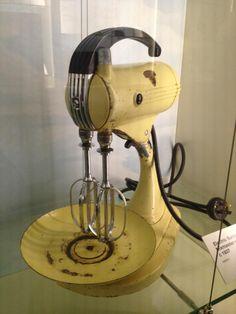 Circa 1937 Electric Sunbeam Mixer. Adore the colour.