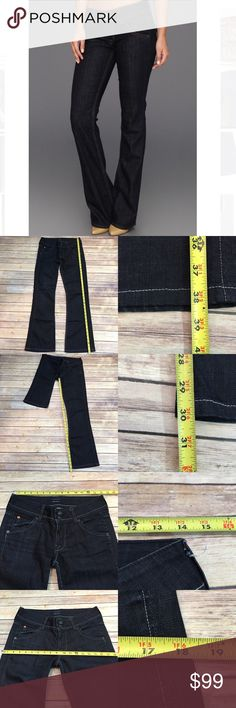✳️Sz 28 Dark Wash Hudson Jeans Button Flap Pockets Measurements are in photos. Normal wash wear, no flaws. B2  I do not comment to my buyers after purchases, do to their privacy. If you would like any reassurance after your purchase that I did receive your order, please feel free to comment on the listing and I will promptly respond. I ship everyday and I always package safely. Thanks! Hudson Jeans Jeans Boot Cut