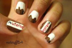 nutella nail art <3 <3