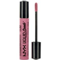 NYX COSMETICS Liquid Suede Cream Lipstick ($9.42) ❤ liked on Polyvore featuring beauty products, makeup, lip makeup, lipstick, beauty, lips, glossy lipstick, nyx lipstick, nyx and lip gloss makeup