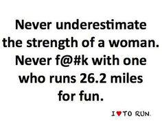 I have no desire to ever run a marathon but I still LOVE this quote.  Will a half do?
