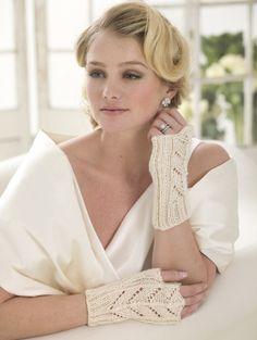 Knit Wedding Lace Gloves free pattern