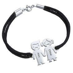 Kids Holding Hands Charms Bracelet | MyNameNecklace
