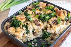 Fitness recepty s vysokým obsahom bielkovín No Cook Meals, Food Inspiration, Broccoli, Mashed Potatoes, Food And Drink, Healthy Recipes, Vegan, Chicken, Vegetables