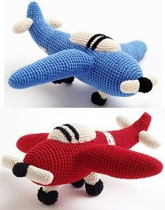 Hand-made soft toys. Crocheted airplane toy gift from... review   buy ...