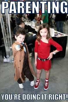 Kids cosplay Doctor Who