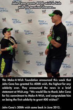 John Cena grants 400th Make-a-Wish wish