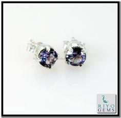 Amethyst Silver Earring handmade Gemstone Jewelry 925 Sterling Silver Jewelry by Riyo Gems Handmade Jewellery http://www.riyogems.com