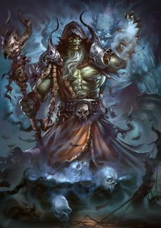 Répertoire Image Fantasy - Page 560 Fantasy Inspiration, Character Inspiration, Character Art, Character Ideas, Orc Warrior, Fantasy Warrior, Warcraft Orc, World Of Warcraft, D D Characters
