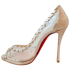 Pre-Owned Christian Louboutin Gold Leather Heels Gold Leather, Leather Heels, Patent Leather, Red Bottom Shoes, Christian Louboutin Heels, French Brands, Red Sole, Red Bottoms, Women Empowerment