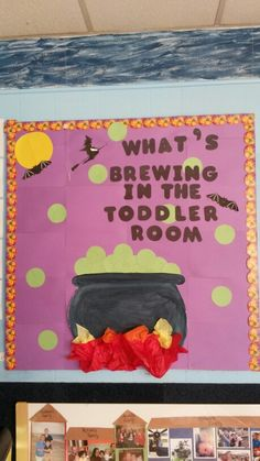 Halloween fall bulletin board