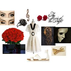 """""""The Music of the Night- Christine Daae"""" by theneon246 on Polyvore"""