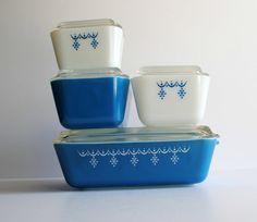 PYREX Snowflake Blue  Snowflake Garland by BridgetsCollection, $70.00
