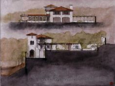 Castilian Residence for Ben Stiller and Christine Taylor | Roman and Williams. Their renderings are gorgeous.