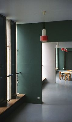 Unité d'habitation, Firminy, France, 1960. colored walls