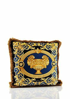 Le Vase Baroque Cushion - Red/Blue