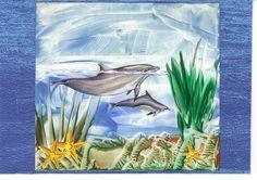 Schilderen met bijenwas aquarium