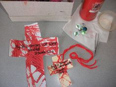 """Craft to illustrate """"By His stripes we are healed..."""" from Isaiah 53"""