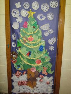 school christmas door contest winners cal community school district door decorating contest - Pinterest Christmas Door Decorations