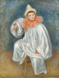 Pierre Auguste Renoir | 1841-1919, France | Le Pierrot blanc, 1901-1902 | Detroit Institute of Arts (DIA)