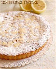 Crostata al limone e mandorle cremosa Dulcisss in forno by Leyla Italian Cake, Italian Desserts, Almond Pastry, French Cake, Romanian Food, Bakery Cakes, Biscotti, Nutella, Love Food