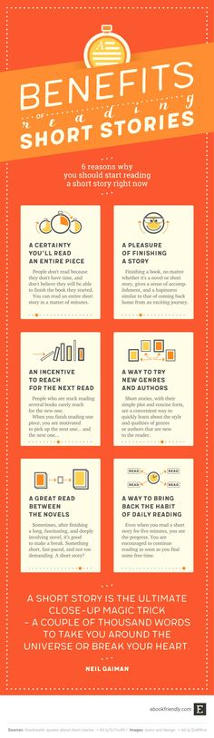Short stories rule! Here are 6 reasons why you should start reading them #infographic