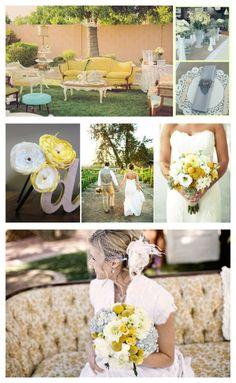 Yellow Gray Sunshine Wedding Ideas Inspiration Houston Texas Event Design Vintage Prop Rentals Styling