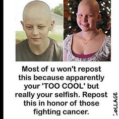 Respect for the people who have gone through this. I applaud your battle and I pray for you that you win. So does God.