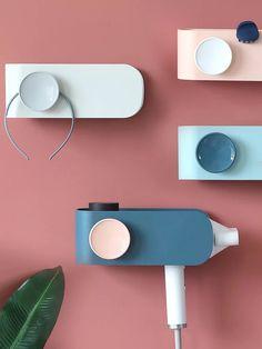 Multifunctional hair dryer holder Sofa Table Design, Smart Home Design, Wall Mounted Desk, Medical Design, Yanko Design, Design Language, Still Life Photography, Design Reference, Industrial Design