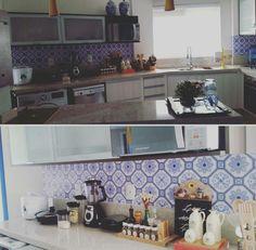 Adesivo aplicado na cozinha
