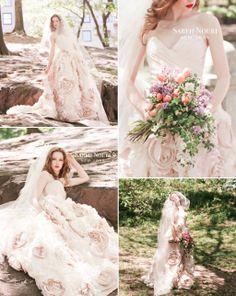 Light Pink Wedding Dresses | Light-pink-embellished-wedding-dress-2.full
