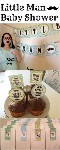 Little Man Mustache Baby Shower and cute free printables!