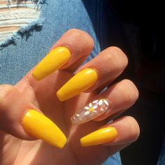 Stylish Acrylic Nail Designs That You Have to Try This Year; Acrylic Nails 2018 Stylish Acrylic Nail Designs That You Have to Try This Year; Almond Acrylic Nails, Cute Acrylic Nails, Cute Nails, Acrylic Nails Yellow, Coffin Acrylic Nails Long, Summer Acrylic Nails Designs, Acrylic Summer Nails Coffin, Ballerina Acrylic Nails, Coffin Nails 2018