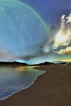 ✮ Beautiful skies shine down on this cosmic seascape