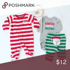 Carters 4 piece set: sleeper, rattle, onesie and pants Carter's Matching Sets