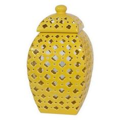 """Check out this item at One Kings Lane! 14"""" Pierced Sunshine Jar"""