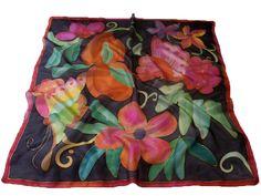 Narancsliget selyemkendő - egyedi ajándék nőknek: http://silkyway.hu/narancsliget-selyemkendo.html