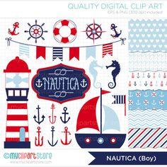 Clipart Combo  Nautica BOY / Nautical / Marine / by MyClipArtStore, $6.00