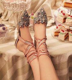 Jeweled shoes by René Caovilla: luxury Italian shoes Rene Caovilla Shoes, Dress Shoes, Shoes Heels, Pumps, High Heels, Next Shoes, Jeweled Shoes, Embellished Heels, Italian Shoes
