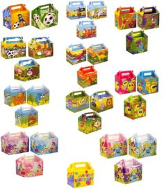 Childrens Kids Birthday Themed Lunch Box Wedding Party Food Gift Loot Bag