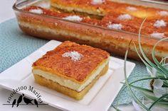 100de100 Marifet: Yapımı Farklı Arası Kremalı Revani Tarifi Tiramisu, Ham, French Toast, Deserts, Food And Drink, Breakfast, Ethnic Recipes, Sweet, Turkish Recipes
