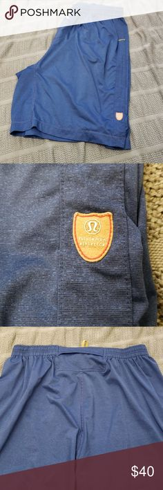 a119fa7b95b Lululemon athletic shorts Blue athletic shorts. Tag is gone so not sure of  size.