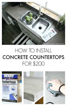 my experience installing concrete countertops for only 200, concrete masonry, concrete countertops, countertops, diy, how to, kitchen design