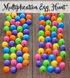multiplication egg hunt-so may fun ways to use Easter Eggs!