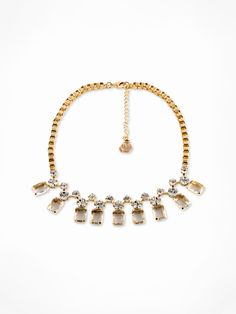 MONKEY ROAD JEWELRY_Blue Crystal Necklace  www.monkeyroadjewelry.com