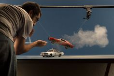 Photographer recreates famous TV show scenes with model toy cars - DIY Photography