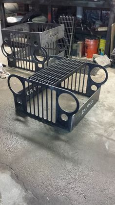 Car Furniture, Automotive Furniture, Automotive Decor, Metal Furniture, Industrial Furniture, Jeep Wrangler Accessories, Jeep Accessories, Metal Projects, Welding Projects